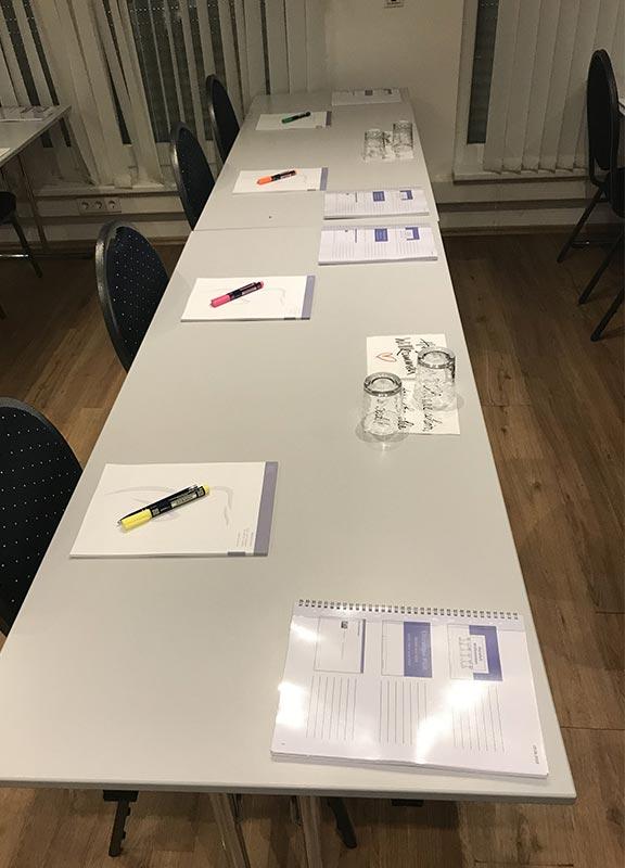 Seminarunterlagen bei Fortbildung für zahnärztliche Abrechnung